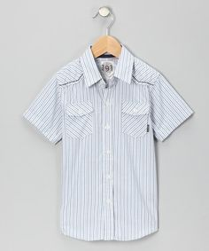 Take a look at this White Johnny Quest Button-Up by Blow-Out on #zulily today! #FALL