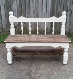 Trendy Furniture, Bench Furniture, Country Furniture, Distressed Furniture, Refurbished Furniture, Repurposed Furniture, Furniture Makeover, Painted Furniture, Furniture Ideas