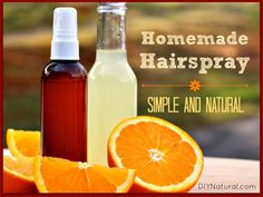 Homemade Hairspray - A Simple, Natural Recipe that Saves Money : This homemade hairspray is natural, easy to make., and super inexpensive. Stop covering your hair with chemicals and use natural ingredients like fruit instead!