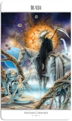 Featured Card of the Day - Death - 78 Tarot Astral ~ Tarot in Space