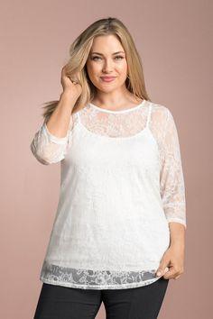 Sara Stretch Lace Top | Shop EziBuy