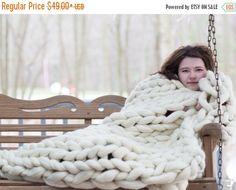 Super Chunky Knit blanket,Chunky Knit blanket,Arm Knit Blanket,Merino Wool Blanket,Giant Knit blanket by Becozi on Etsy https://www.etsy.com/listing/280840130/super-chunky-knit-blanketchunky-knit
