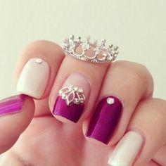 princess nails ✿⊱╮