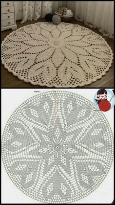 Débardeurs Au Crochet, Crochet Cable Stitch, Crochet Carpet, Crochet Mandala, Filet Crochet, Crochet Crafts, Crochet Projects, Crochet Coaster, Thread Crochet