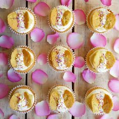 Lucy and her kids have made vanilla butterfly cupcakes for the weekend.