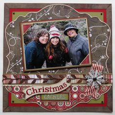 """Sweet """"Christmas"""" Scrapbooking Layout...Scrappy Chick Designs."""