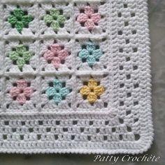 Scrap Crochet, Crochet Diy, Crochet Hook Set, Crochet Afgans, Filet Crochet, Granny Square Crochet Pattern, Basic Crochet Stitches, Crochet Blanket Patterns, Mobiles En Crochet