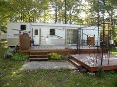 Deck Idea | Seasonal campsite | Pinterest