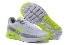 the best attitude a89ed e9cfe Nike Air Max 90 Ultra Breeze Plus Quickstrike, Nike Air Max 90 Ultra Br Dam  Fluorescent Grön Grå Vit