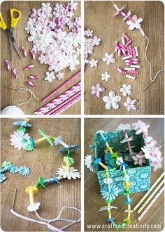 Hawaiian Paper Leis - by Craft & Creativity