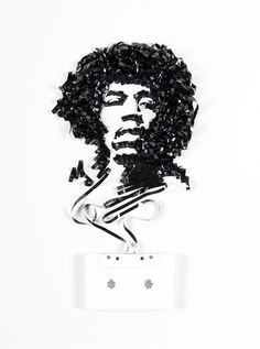 Magnificent Cassette Art by Erika Iris Simmons | Cuded Jimi Hendrix
