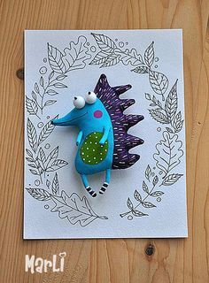 cheerful hedgehog can make even the most a gloomy and rainy day brighter. This brooch is a great accessory for any occasion Clay Crafts, Felt Crafts, Art For Kids, Crafts For Kids, Design Textile, Fabric Toys, Cute Toys, Sewing Toys, Soft Sculpture