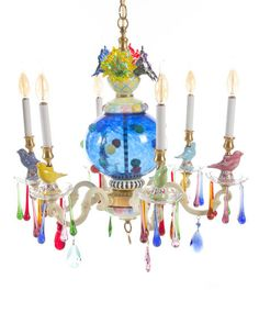 MACKENZIE-CHILDS Merrifield Small Six-Light Chandelier $4150 - FREE SHIPPING OR PICK UP
