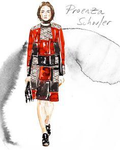 New York Fashion Week in Watercolor - The Cut | Samantha Hahn