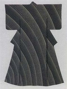 """Formal Kimono with yuzen-zome design titled """"Flowing Water"""" by Moriguchi Kunihiko, Japanese National Living Treasure"""