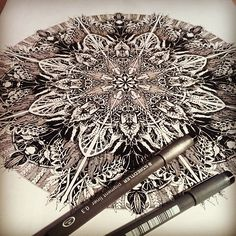 "inkheartkicks: ""A3 signed print £12 free shipping in March with code:FREEPOST. @ www.inkheart.co.uk. #illustration #inkheart #pen #art #drawing #detail #flower #london #tattoo #shoreditch #mandala..."
