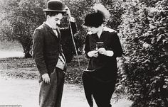 "Charlie Chaplin, Mabel Normand in ""Getting Acquainted"" (1914)"
