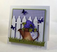 Card Making Ideas | Paper Crafts | Handmade Greeting Cards   Impression Obsession Hydrangea Blooms