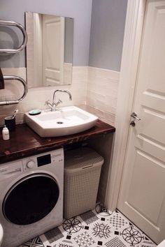 Bathroom small washing machine toilets 55 Ideas for 2019 Spa Like Bathroom, Tiny House Bathroom, Bathroom Design Small, Laundry In Bathroom, Bathroom Layout, Bathroom Interior Design, Bathroom Storage, Laundry Rooms, Small Laundry