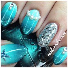 #blue #nailart
