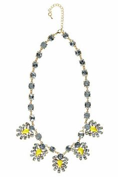 Faith Pastel Flower And Gem Necklace at boohoo.com