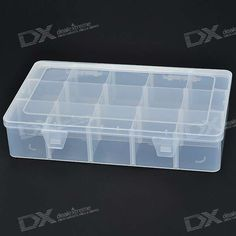 15 Compartment Plastic Storage Box for Electronic Components/Small Gadgets