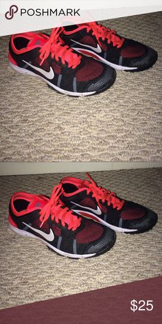 Pink and Black Nike Shoes These shoes are great for running outdoors! Nike Shoes