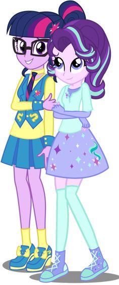 #1129131 - alternate costumes, artist:ggalleonalliance, artist:osipush, artist:steampunksalutation, counterparts, equestria girls, equestria girls-ified, glasses, holding hands, human twilight, lesbian, safe, shipping, starlight glimmer, twilight's counterparts, twilight sparkle, twistarlight - Derpibooru - My Little Pony: Friendship is Magic Imageboard