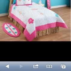 Surf room - cute idea for bed skirt