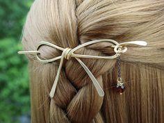 Shawl Pin  Hair Pin  Butterfly Motif#2  Handmade Embossed Brass  Scarf Pin  Sweater Pin  Wrap Pin  Bun Holder  Hair Stick  Md Sz
