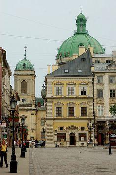 Ploshcha Rynok (Market Square), Lviv, Ukraine