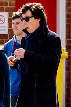 Benedict Cumberbatch, on April 14, 2013. Must be on the set of Sherlock S3. I keep seeing the guy next to him, in his pics, an 'Assistant to Mr. Benedict Cumberbatch' <3 .. ?