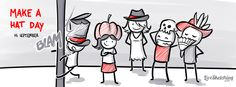 15 September - Make a Hat Day - This is a day for fun. Design, make, and wear your a hat for yourself today. Put your personality into it. Or, make a hat from a character you would like to imitate for a day.