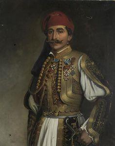 Oriental, Greek Warrior, Middle Eastern Fashion, Central And Eastern Europe, Oil Portrait, Historical Clothing, Costume Design, Deep Blue, Revolution