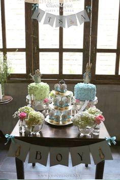 Peter Rabbit themed baby shower via Kara's Party Ideas KarasPartyIdeas.com Decor, printables, favors, desserts, food, and more! #peterrabbit #peterrabbitparty #peterrabbitbabyshower (13)