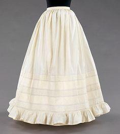 Petticoat Date: 1850–60 Culture: American Medium: cotton Dimensions: Length at CB: 41 in. (104.1 cm) Credit Line: Brooklyn Museum Costume Co...