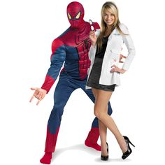 costume ideas for couples - Yahoo Image Search Results Clever Halloween Costumes, Unique Costumes, Halloween Party Games, Halloween Fun, Costume Ideas, Spiderman Classic, Spiderman Movie, Superhero Couples Costumes, Couple Costumes