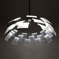 Like the contrast and translucency - Kronleuchter Lamp by Denise Hachinger