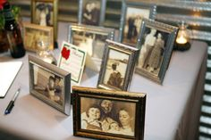 Vintage frames with old family photos