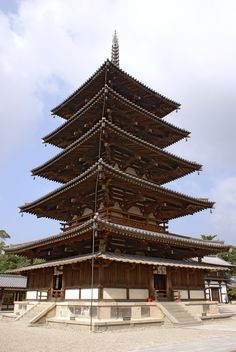 The Five-storied Pagoda of Hōryū-ji, a Buddhist temple in Ikaruga, Nara prefecture, Japan. ( CC BY SA ) The pagoda created by Dōkyō for the Yugedera temple is believed to have been even taller. Horyuji Temple, Buddhist Temple, Japanese Buildings, Japanese History, Japanese Culture, Wooden Buildings, Listed Building, Gothic Architecture, Historical Architecture