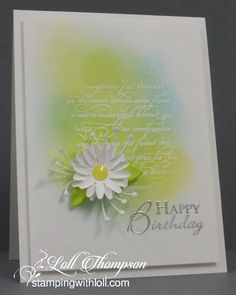 Spring Daisy by Loll Thompson - Cards and Paper Crafts at Splitcoaststampers