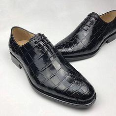 Formal Alligator Oxford Alligator Leather Dress Shoes for Men Dress Shoes With Jeans, Brown Dress Shoes, Leather Dress Shoes, Loafer Shoes, Men's Shoes, Shoe Boots, Shoes Men, Loafers Men, Gentleman Shoes