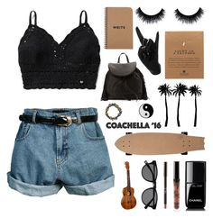 """""""#BestOfCoachella"""" by nikka163 ❤ liked on Polyvore featuring Retrò, Abercrombie & Fitch, Dogeared, Chanel, Sam Edelman, Thelermont Hupton, Dot & Bo and Free People"""
