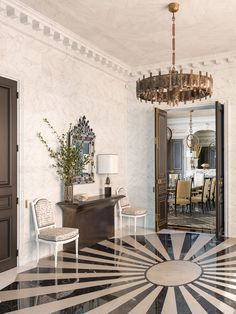 Jean Louis Deniot Luxury modern and contemporary entrance hall. Beautiful Interior Design, Contemporary Interior Design, Luxury Interior Design, Luxury Home Decor, Luxury Homes, Jean Louis Deniot, Interior Design And Construction, American Interior, Classic Living Room