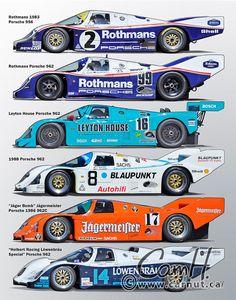 Porsche 956, Porsche Motorsport, Porsche Cars, 24 Hours Le Mans, Le Mans 24, Slot Cars, Race Cars, Automobile, Sports Car Racing