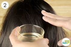 massage your hair with coconut and rosemary essential oil blend