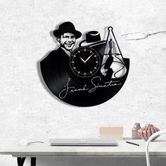 Frank Sinatra Vinyl Clock, Frank Sinatra Wall Clock, Best Gift for Jazz Music Lover, Original Wall Home Decor Vinyl Record Clock, Vinyl Records, Frank Sinatra Vinyl, Record Crafts, Vinyl Gifts, Jazz Music, Music Lovers, Gift Guide, Best Gifts