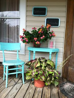 My front porch Coastal Living, Outdoor Spaces, Outdoor Ideas, Front Porch, Repurpose, Porches, Planter Pots, Patios, Remodeling