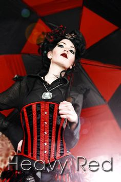 ABIGAIL'S TORMENTED HEART WAIST CINCHER  From the Heavy Red Winter 2010 Line  Price: $80.00