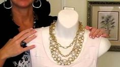 Nancy Hanrahan demonstration of new jewelry! - The Passionista necklace, the Ritz necklace, the Easy Living necklace, the Snazzy bracelet and the Buckle Up bracelet and ring.